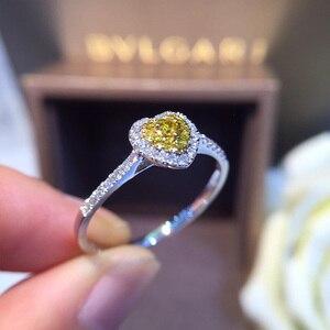 Image 2 - Naturale Diamante 18K Oro Anello di Oro Puro Bella Pietra Preziosa Anello di Buona di Lusso Alla Moda Del Partito Classico Gioielleria Raffinata Vendita Calda Nuovo 2020