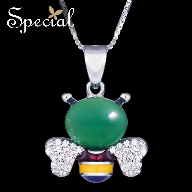Special New Fashion 925 Sterling Silver Necklaces Pendants Lovely Fairy Maxi Necklace Enamel Jewelry Gifts for Women S1654N in Pendant Necklaces from Jewelry Accessories