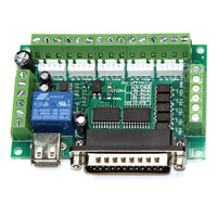 5PCS/lot Upgraded 5 Axis CNC Interface Adapter Breakout Board For Stepper Motor Driver Mach3