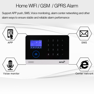 Image 2 - אלחוטי SIM GSM בית RFID פורץ אבטחת LCD מגע מקלדת WIFI GSM מעורר מערכת חיישן ערכת אנגלית, רוסית, ספרדית קול