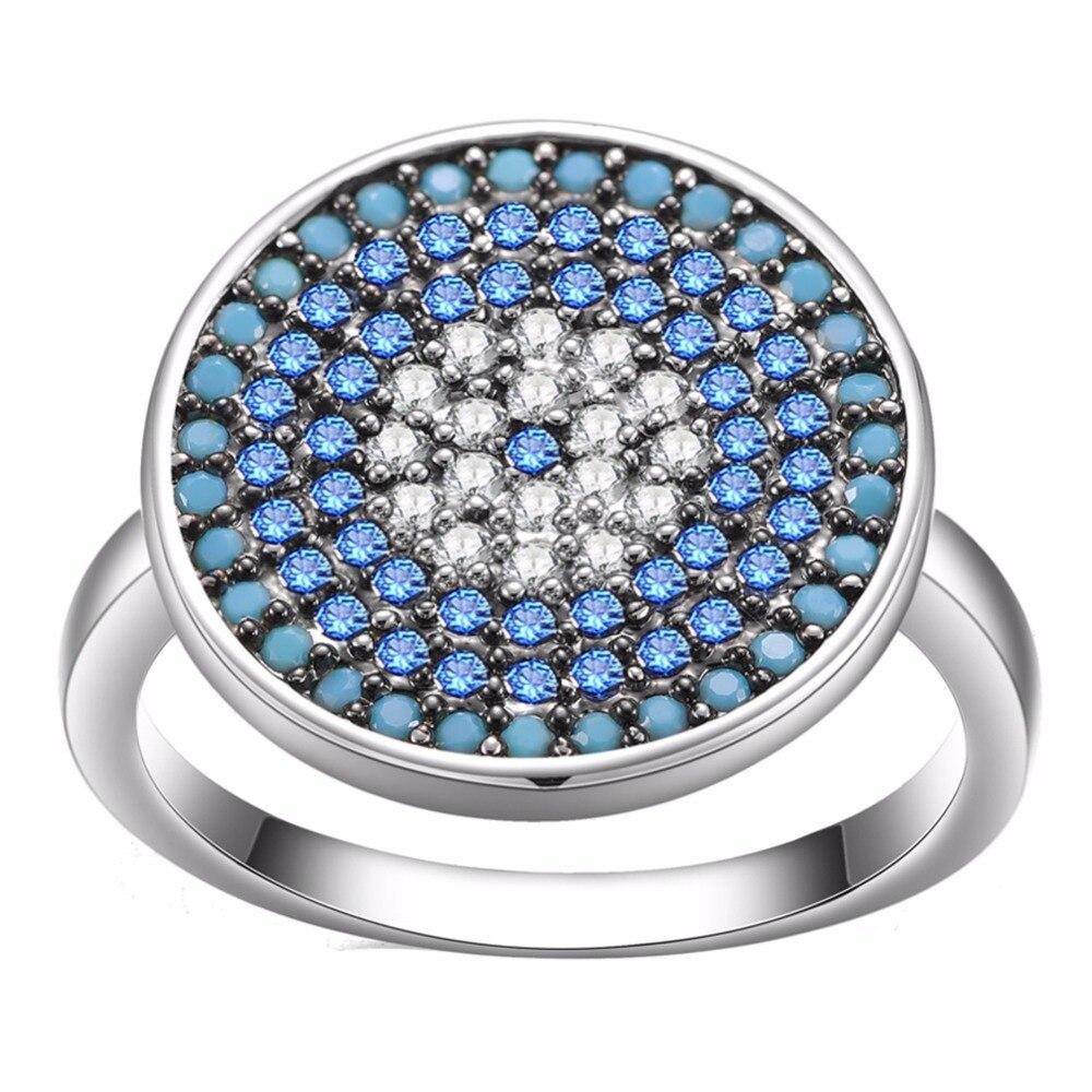 turkish wedding rings price turkish wedding ring KIVN Jewelry Turkish Blue eye Cubic Zirconia Women Girls Bridal Wedding Engagement Rings Birthday Gifts 10pcs