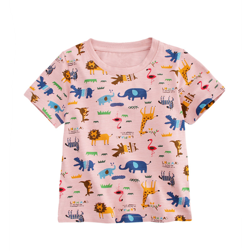 Girls Tops Toddler t shirt new designed short sleeve baby girls t shirt printed animals summer clothing new brand clothes 2017