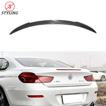 цена на F06 F12 Carbon Spoiler V Style For BMW Coupe 6 series F12 F13 & M6 Rear Bumper trunk spoiler wing 2012 2013 2014 2015 2016 2017+