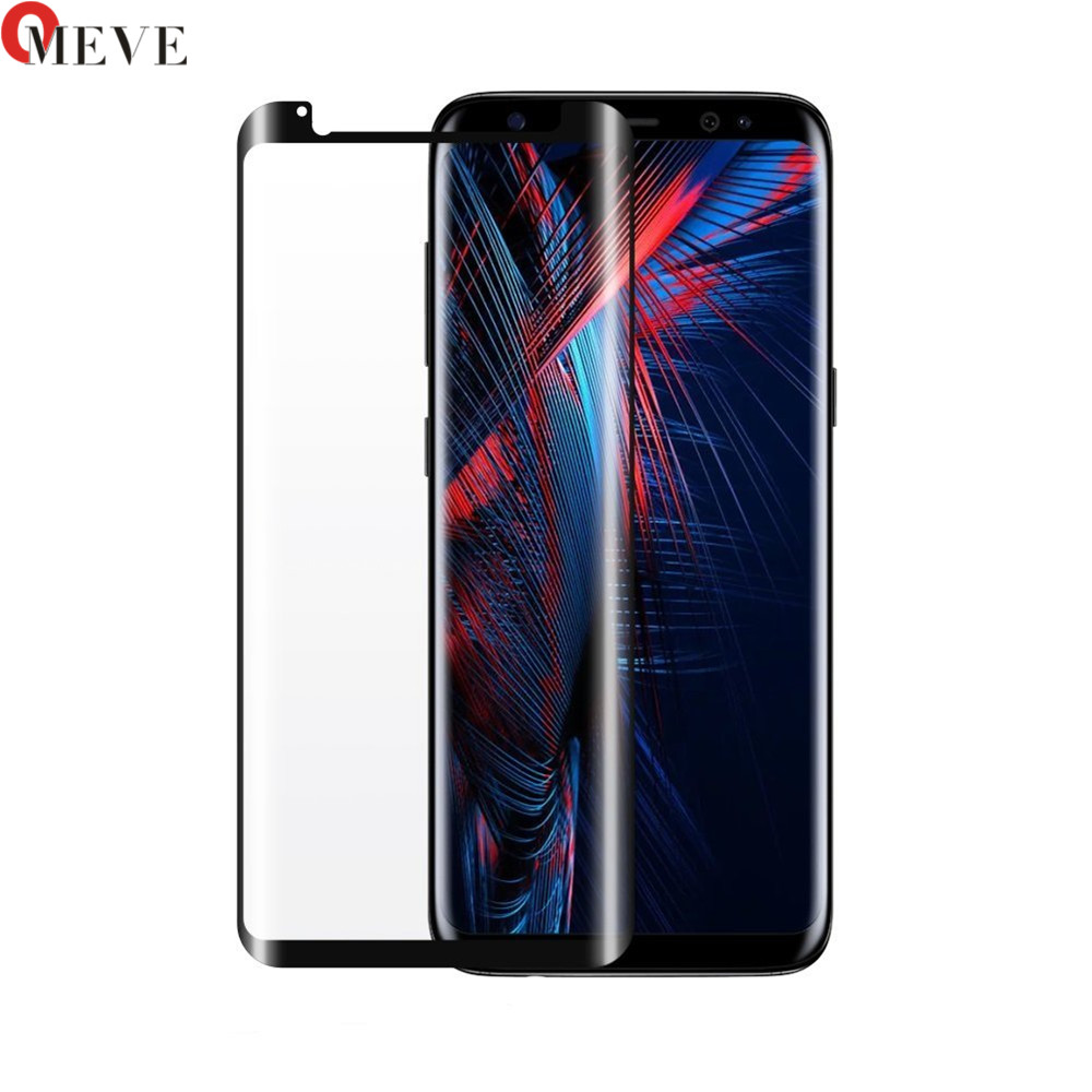 50pcs 3D Curved Clear Full Glue Tempered Glass For SAMSUNG S8 Full Adhesive Screen Protector For