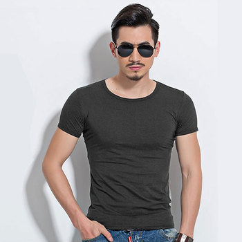 2019 Classic V Neck Fitness Men T-Shirt Vintage Short Sleeve Solid Color Muscle Fit T Shirt Breathable Wicking Cool Men Top Tees Mens MMA collection
