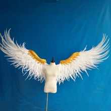 customized large feather wing cosplay halloween carnival women performance white angel feather wings