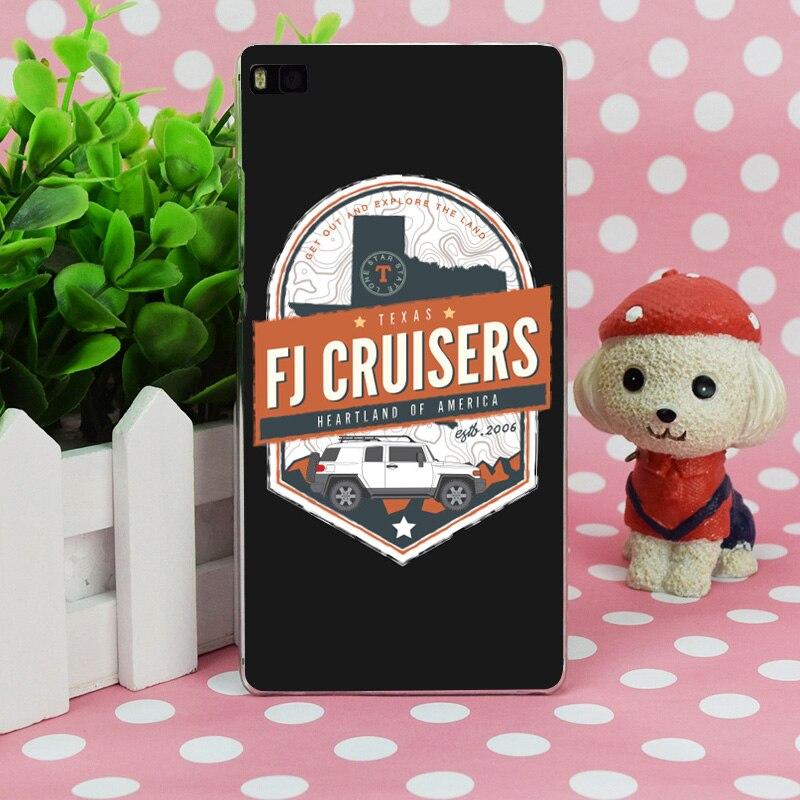 B0024 2016 FJ Cruiser Shirt Прозрачный Жесткий Тонкий чехол кожного покрова для Huawei P 6 7 8 9 lite плюс honor 6 7 4c 4x G7