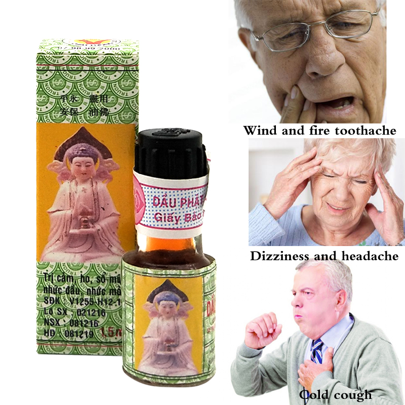 Natural Herbal Buddha Ointment Oil Treatment for headaches, stomachaches, carsickness, etc. makes you relaxed(China)