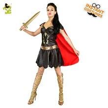 2017 Новые костюмы женщин-воинов Взрослые женщины Viking Warrior Princess Fancy Dress Halloween Costumes