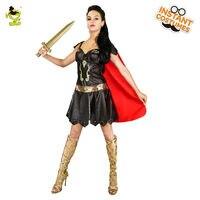 New Warrior Woman Costumes Adult's Women's Viking Warrior Princess Fancy Dress Halloween Costumes