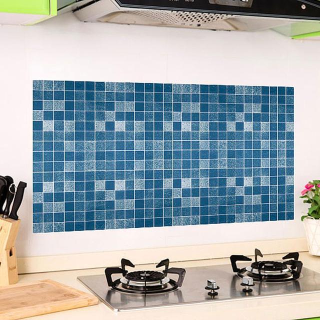 M Osaic Wallpaper Aluminum Foil Adhesive Wall Sticker Kitchen Bathroom Decorative Background Decal