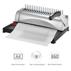 Image 3 - A4 กระดาษเครื่อง Puncher Binder 21 หลุมเครื่อง 12 แผ่น Punching 450 แผ่น Binding Office Home เครื่องมือ A5 a6 7