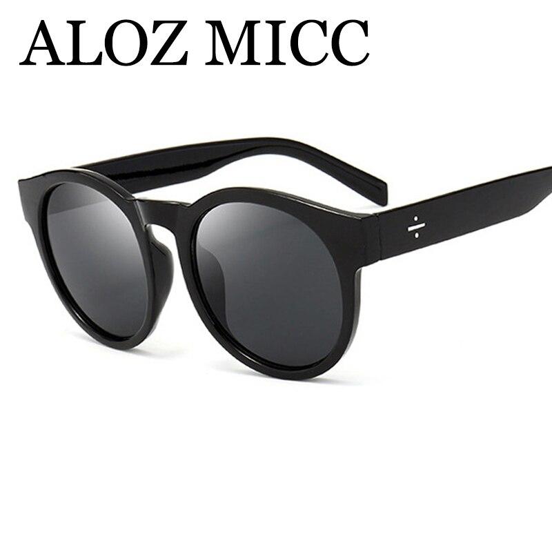 Image ALOZ MICC Fashion Round Sunglasses Women Brand Designer Retro Superstar Men Sun Glasses Lady Eyewear Oculos De Sol UV400 Q173