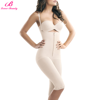 Lover Beauty Women Zip Full Body Shaper Breathable Corset Bodysuit Shapewear Thigh Slimming Firm Tummy Control