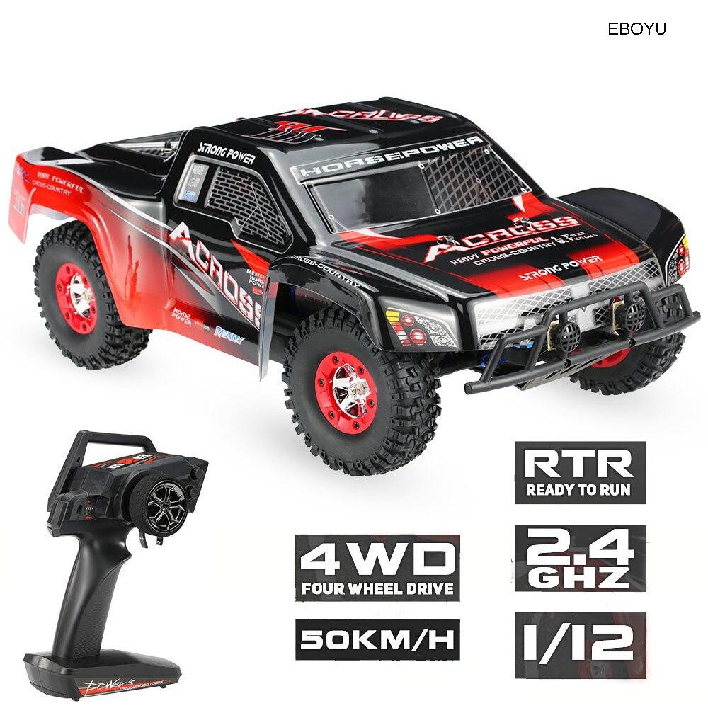 Wltoys 12423 1:12 RC Voiture 2.4G 4WD Électrique Brossé Court Cours RTR RC Car Racing Car RTR