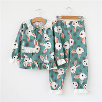 Mother and Daughter Sets Baby Girl European and American Long sleeved Cotton Children Mommy Kids Pajamas Family Matching Outfits