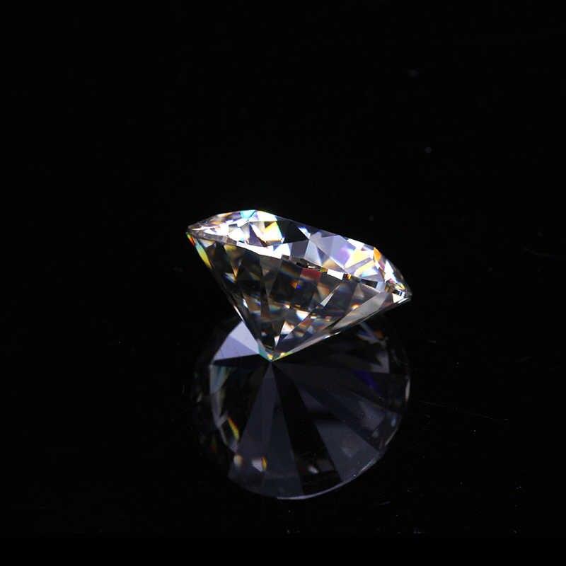 ダイヤモンドテスター 3.0 ミリメートル 0.1ct に合格するラウンド EF 白色ブリリアントカット moissanites ためルースストーン婚約指輪良い価格