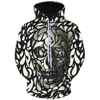 Cloudstyle Fashion 3D Hoodies Men Sweatshirts Hot Design Skull 3D Print Tops Pullover Spring Autumn Clothing Plus Size 5XL