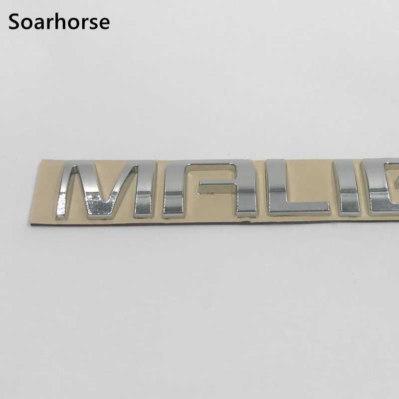 Soarhorse Auto Styling Voor Malibu Logo Embleem Achter Deck Deksel Badge Sticker Voor Chevrolet Malibu 2009-2014
