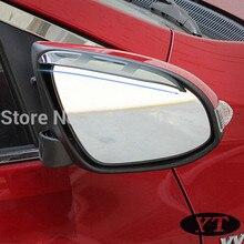 Auto rear view mirror rain shield deflector For Toyota Corolla 2015,2pcs/lot,free shipping window deflector for mitsubisi pajero 2 1990 2004 rain deflector dirt protection car styling decoration accessories molding