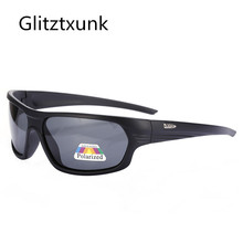 Glitztxunk Sport Sunglasses Men Polarized Square Retro Sun Glasses for Black Frame Outdoor Driving Eyewear Oculos Gafas