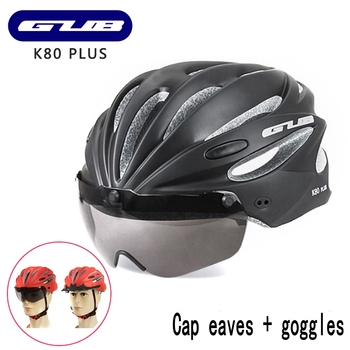 Gub Capacete Da Bicicleta Integralmente-moldado MTB Estrada corrida de Bicicleta Cap Ciclismo Capacete Com Óculos de Adsorção Ímã K80 ALÉM de Seguro 58-62