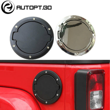 Black Auto Oil Tank Cover Locking Fuel Gas Housing For 2007-2016 Jeep Wrangler JK Free Shipping by ePacket