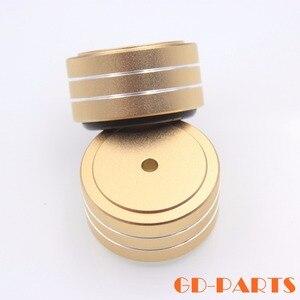 Image 5 - 4 pièces 40*20mm usiné plein aluminium amplificateur pieds PC châssis haut parleur armoire Isolation support Base ampli DAC plateau tournant cône