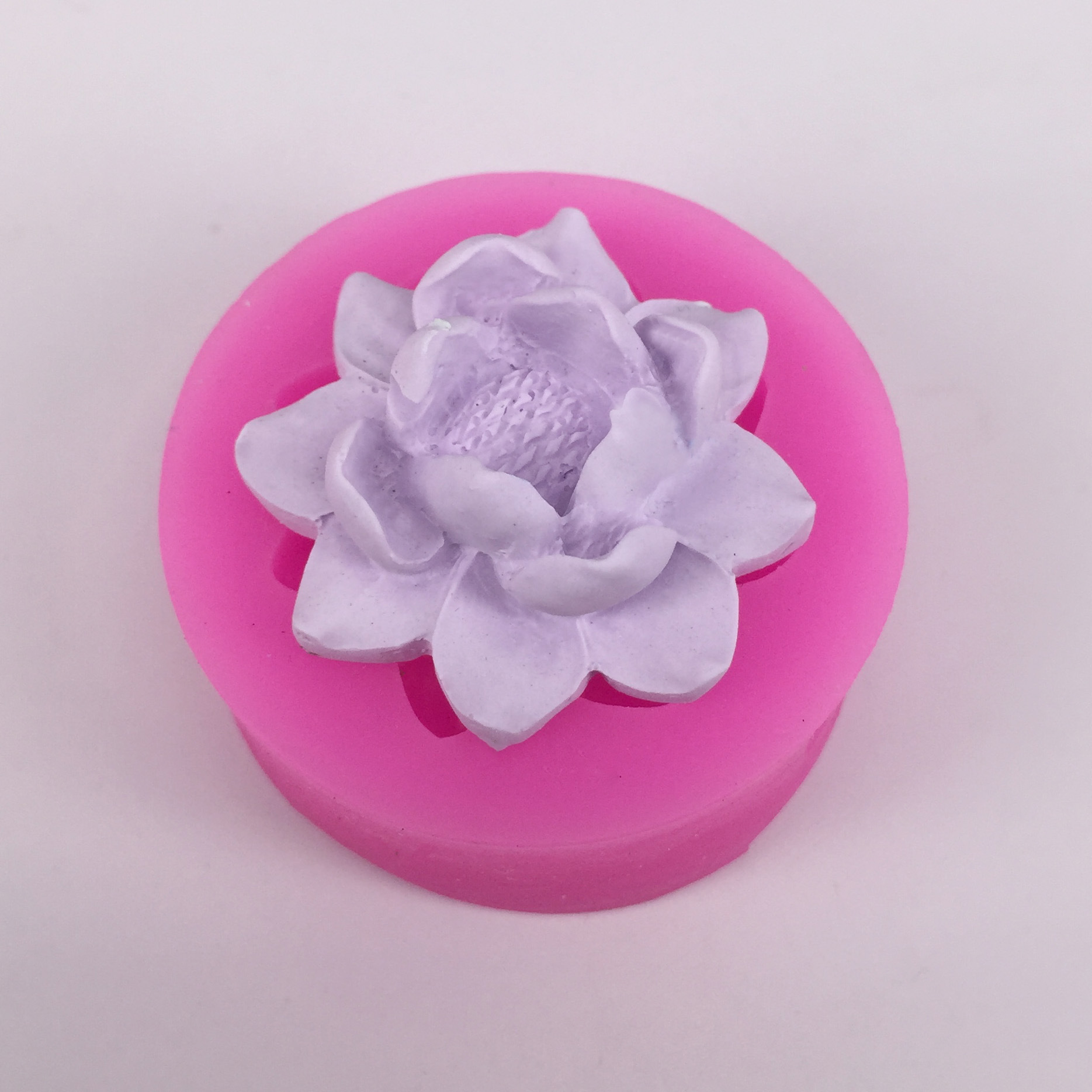 3d Lotus Flower Cake Mold Silicone Flower 3d Soap Making Mould In
