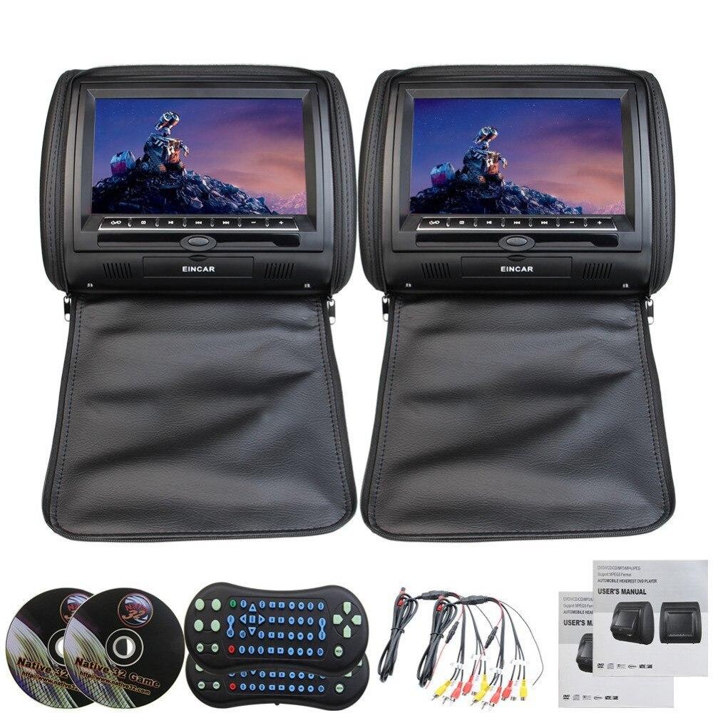 Appuie-tête de voiture 2 pièces moniteur lecteur CD DVD Auto radio oreiller 9 pouces voiture appuie-tête lecteur DVD/appuie-tête appuie-tête oreiller TFT
