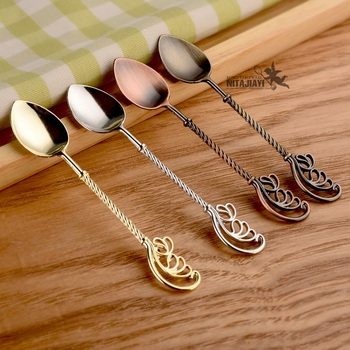 Creative Coffee Mixing Spoon Cute Wing Spoon Long Handle Spoons Flatware Dessert Spoon Kitchen Tableware W8219