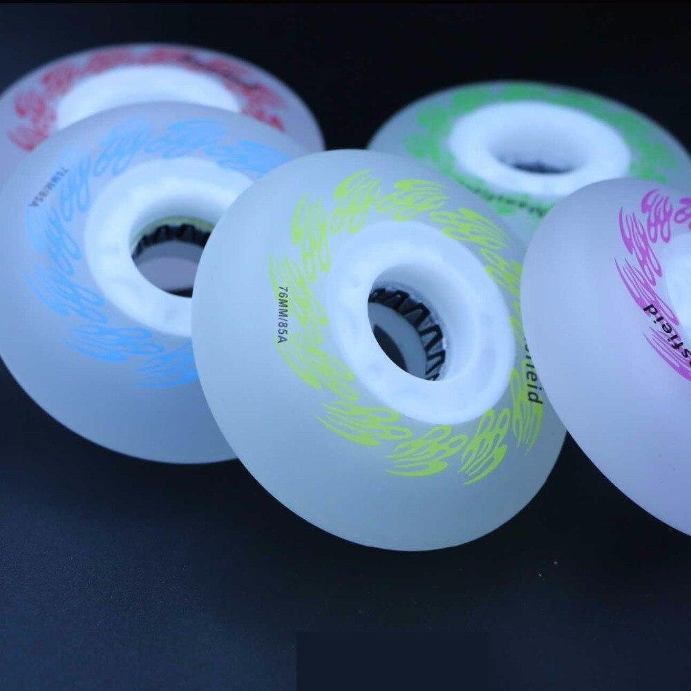 Image 3 - SzBlaZe 4 шт 85A светодиодные светящиеся колеса 72 мм 76 мм 80 мм ПУ роликовые коньки для встроенных коньков волновая доска Кастер доска уличного серфинга-in Детали и аксессуары для скутера from Спорт и развлечения