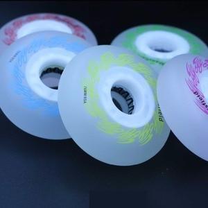 Image 3 - Szblaze 4 조각 85a led 플래시 휠 72mm 76mm 80mm pu 인라인 스케이트 휠 인라인 스케이트 웨이브 보드 캐스터 보드 스트리트 서핑