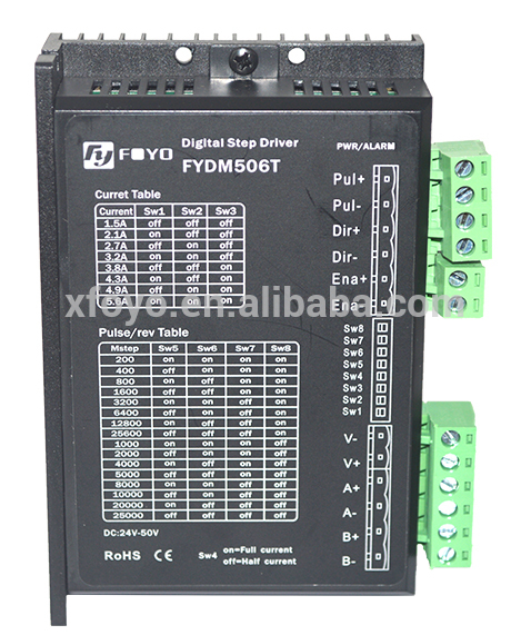 Digital stepper motor driver (two-phase)- FYDM506T trustfire protected 18650 3 7v 3000mah rechargeable li ion batteries pair