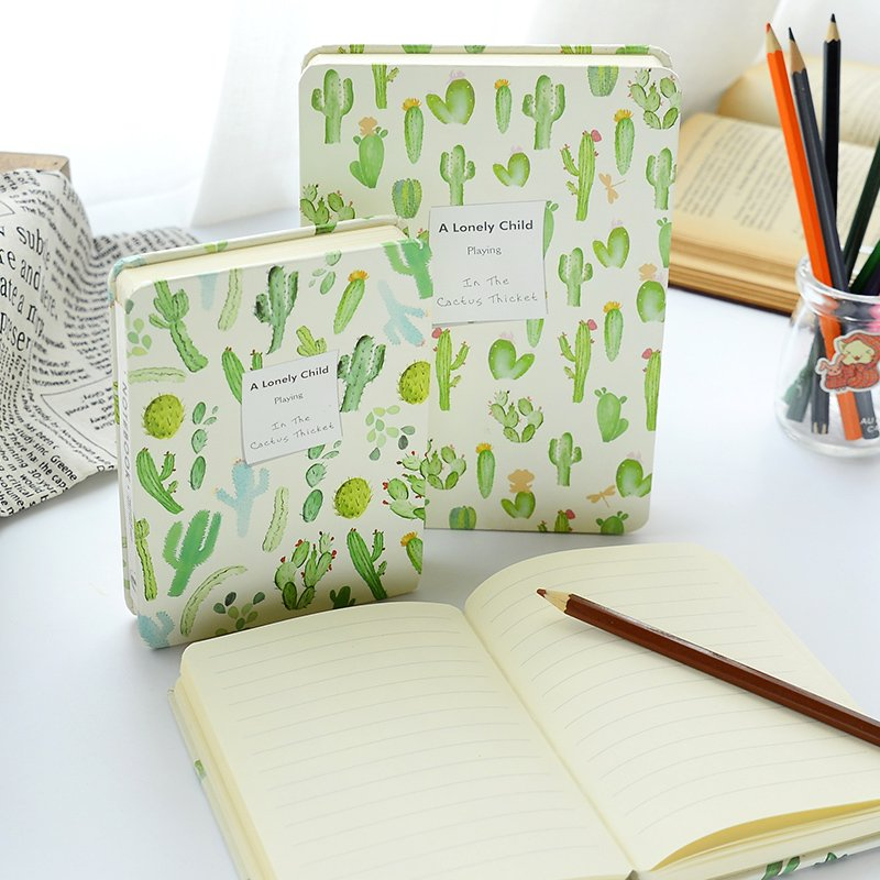 South Korea stationery cactus creative 32k THICKED diary 64k brief  lovely notepad students note book creative pure and fresh japanese style notepad 32k blank notebook hand diary south korea