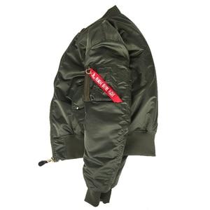 Image 3 - 2020 Winter Vintage oversize MA 1 streetwear hip hop military coats clothes double side bomber flight air force pilot jacket men