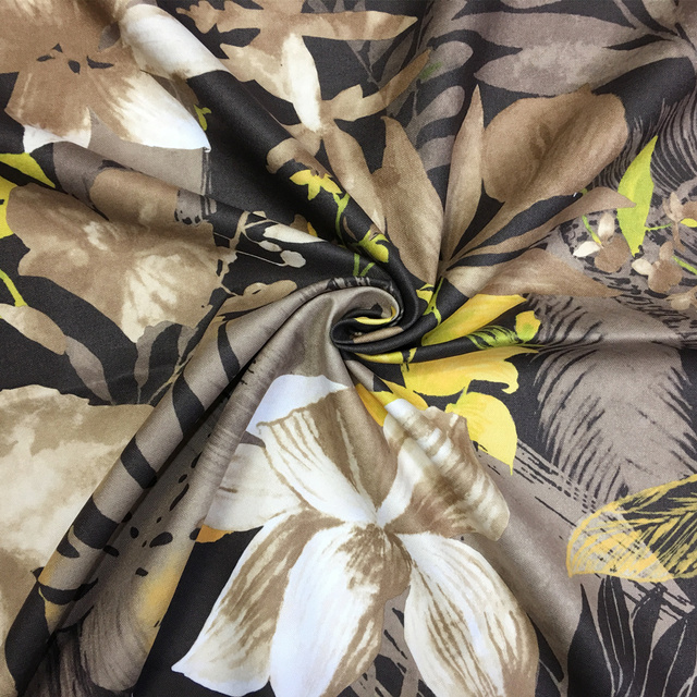 Tropical Flower Stripe Digital Print Chair Upholstery Sofa Armchair