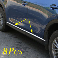 Door Side Body Molding Stripes Cover Fit For Mazda CX 5 CX5 KF 2017 2018 2019 Accessories Trim Stainless Steel