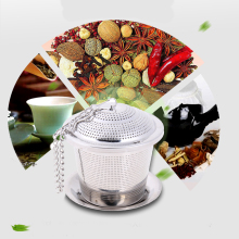 Stainless Steel Loose Tea Infuser Mesh Filter Strainer w/hook Loose Tea Leaf Spice Home Kitchen Accessories