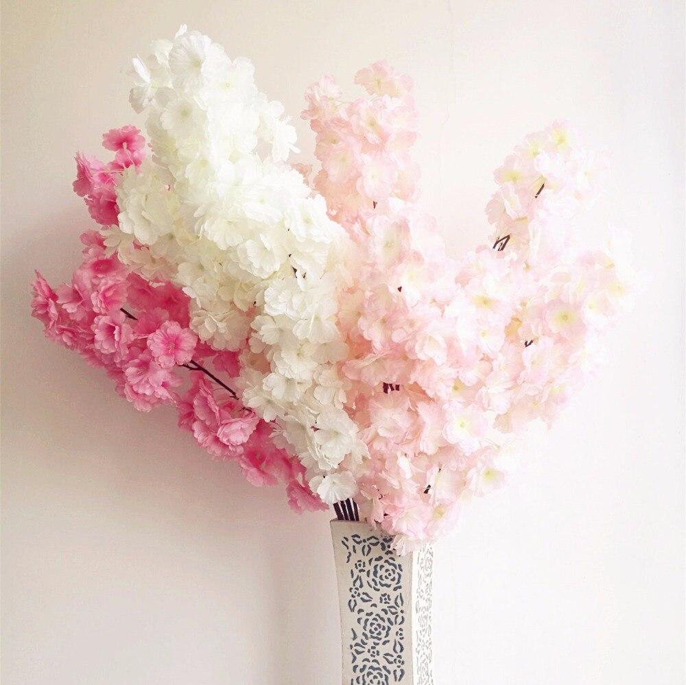 18pcs 인공 벚꽃 지점 가짜 사쿠라 꽃 줄기 더 많은 꽃 머리 12 색 결혼식 사쿠라 트리 장식-에서인공 & 건조 꽃부터 홈 & 가든 의  그룹 2