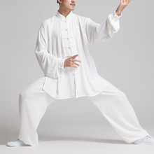 Newly Chinese Kung Fu Clothing Set Men Women Martial Arts Uniform Tai Chi Wushu Outfits Exercise Stage Performance Costumes