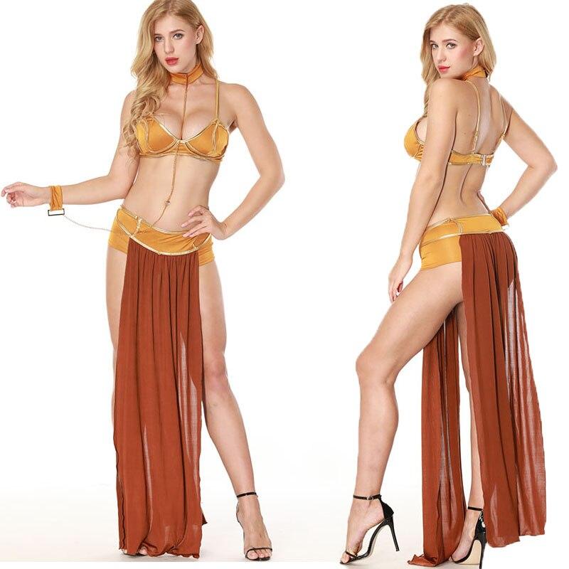 Adult Women Fancy Space Slave Costume Sexual Arabic -8934