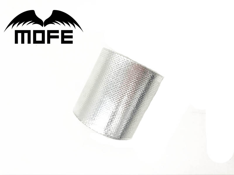 MOFE A Silver Thermal Tape Air Intake Heat Insulation Shield Wrap Reflective Heat Barrier Self Adhesive Engine 2 Inch image