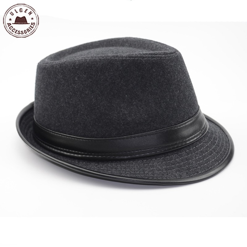 Cool Men s Fedora Hat Summer Jazz Fedoras Hat For Men classic dancing  winter wool caps gentleman black fedora-in Fedoras from Apparel Accessories  on ... 72a05197b8a