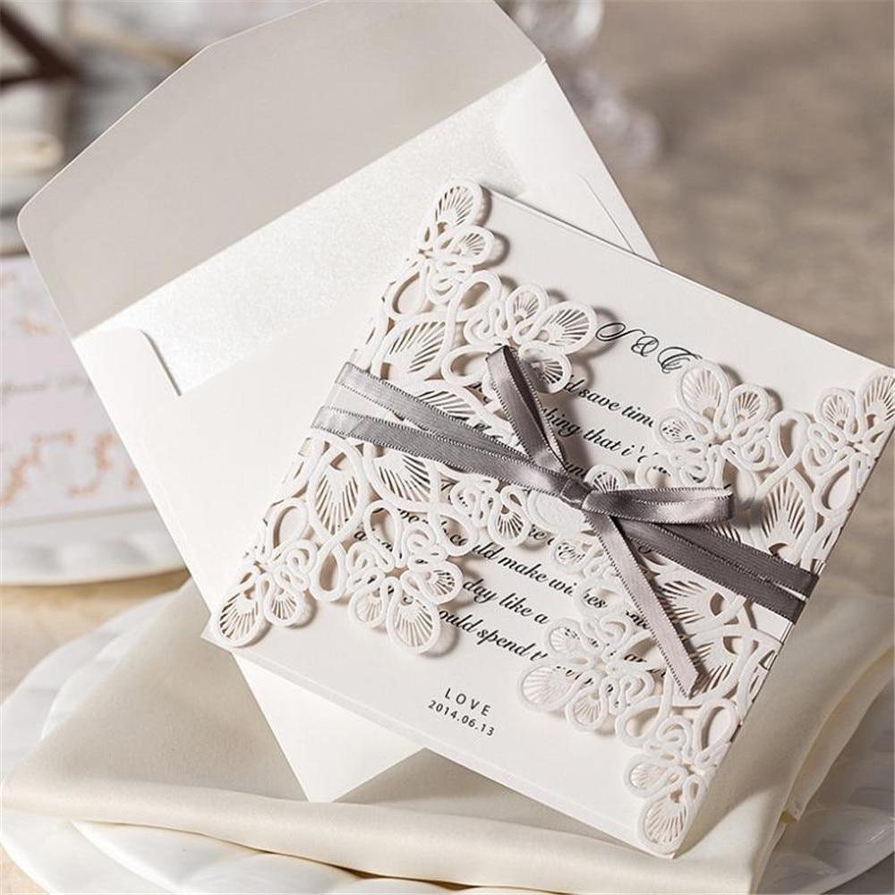 20pcs/Lot Wedding Invitation Card laser cut wedding invitations ...