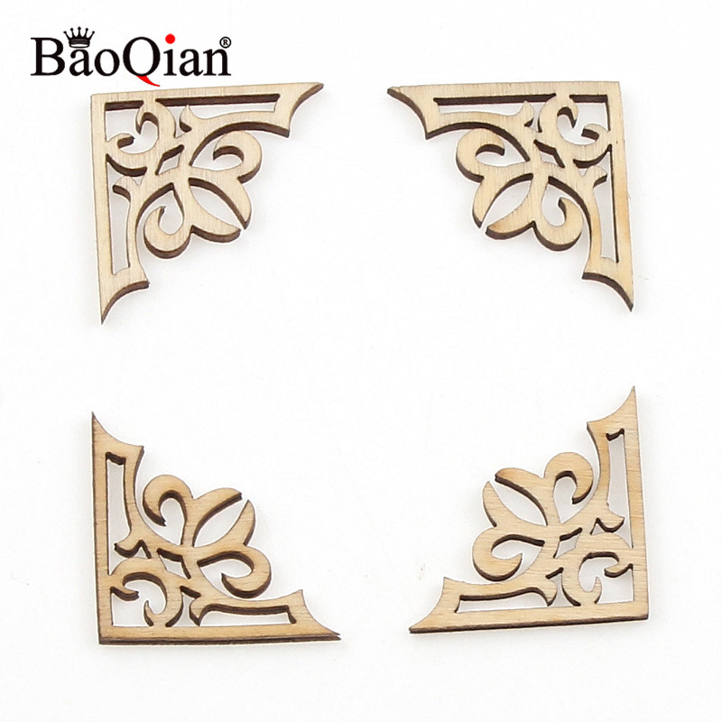 10Pcs Natual Lovely Animal Pattern Wooden DIY Wood  Craft For Handmade Scrapbooking Art Accessory Sewing Home Decoration