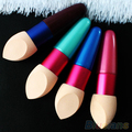 Women's Cosmetic Makeup Foundation Liquid Cream Concealer Sponge Lollipop Brush 1QBC 2UA5