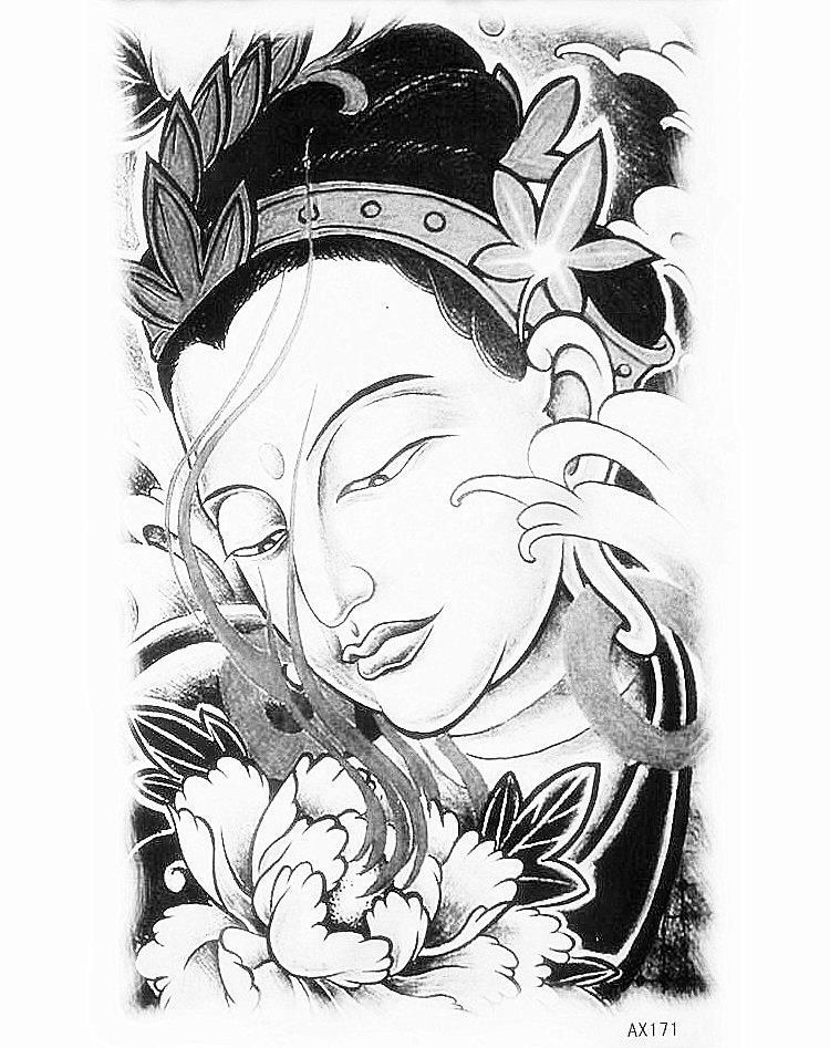India Menina Colado Papel Jato De Tinta De Tatuagem