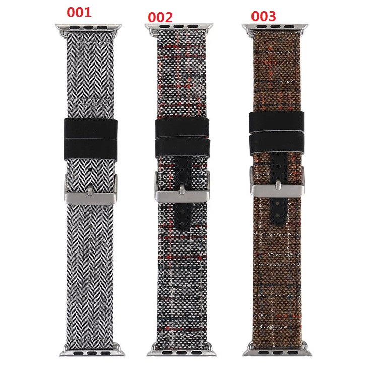 Newest Linen Genuine Leather Watch Band Strap Bracelect Replacement for Apple Watch iWatch 38mm 42mm Series 1/2 Watchband 6 colors luxury genuine leather watchband for apple watch sport iwatch 38mm 42mm watch wrist strap bracelect replacement