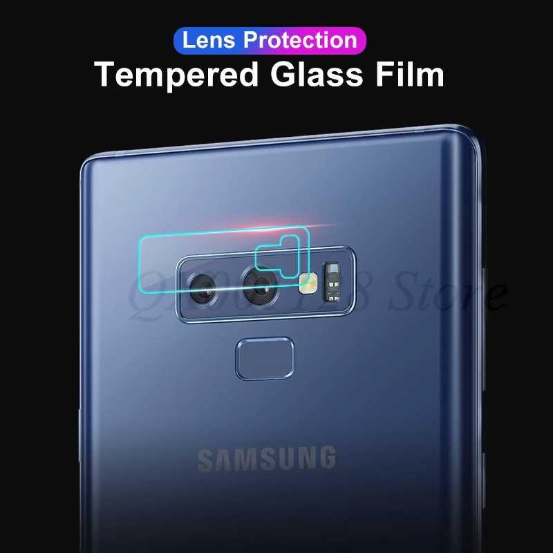 كامل غطاء الكاميرا الخلفية عدسة الزجاج المقسى واقي للشاشة لسامسونج غالاكسي s9 plus S8 زائد A6S A8 زائد 2018 ملاحظة 9 8 فيلم